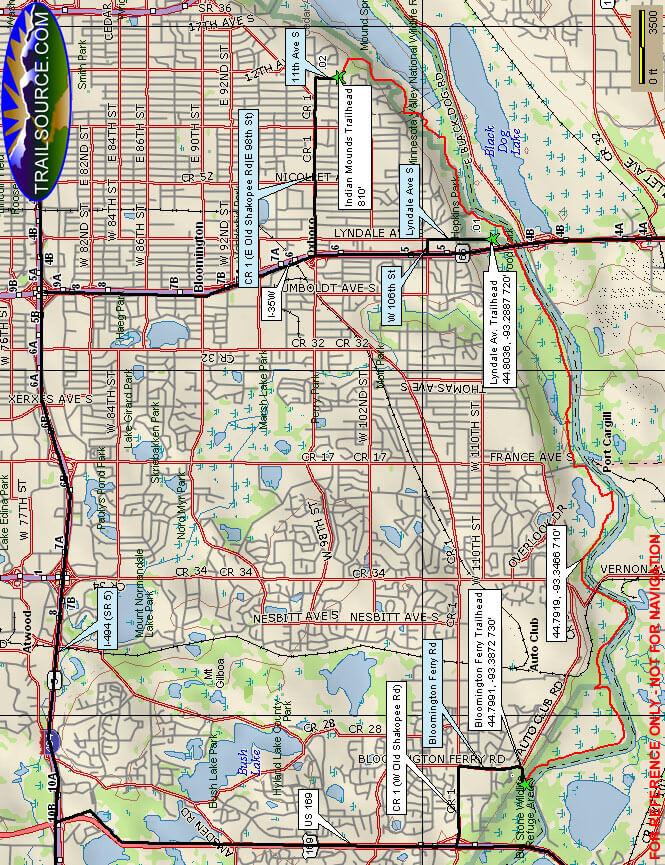Parkers Ridge Trail Hiking Map