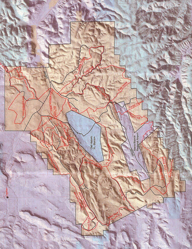 Fort Stanton Trail Hiking Map
