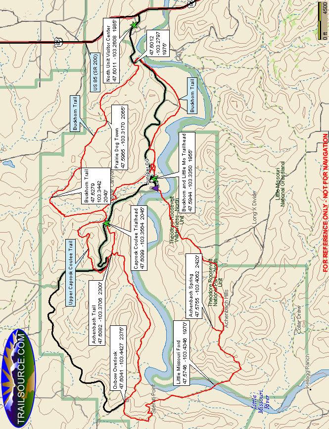 Achenbach/Buckhorn Trails Hiking Map