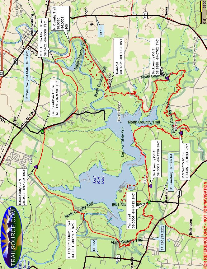 Steven Newman Perimeter Trail Hiking Map