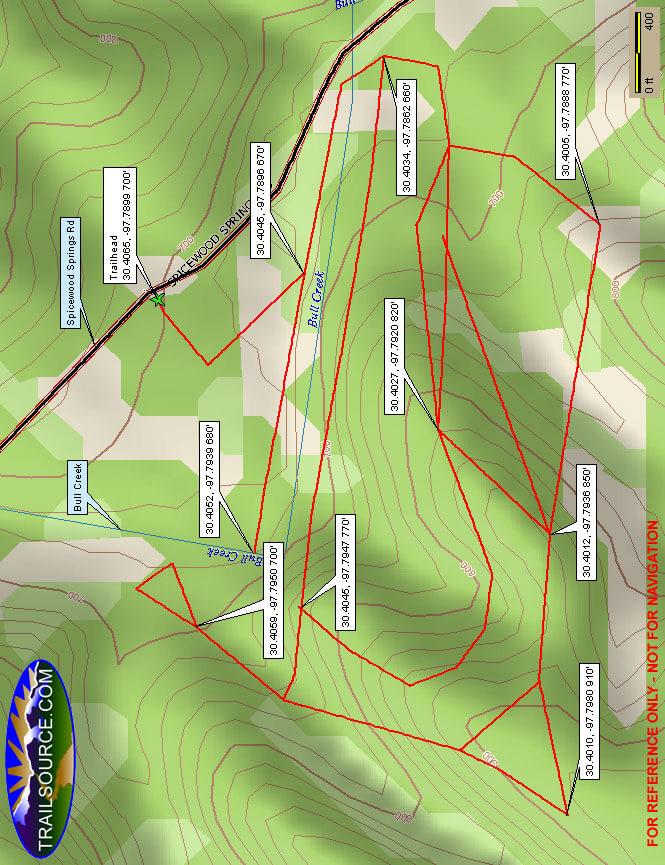 Forest Ridge Hiking Map