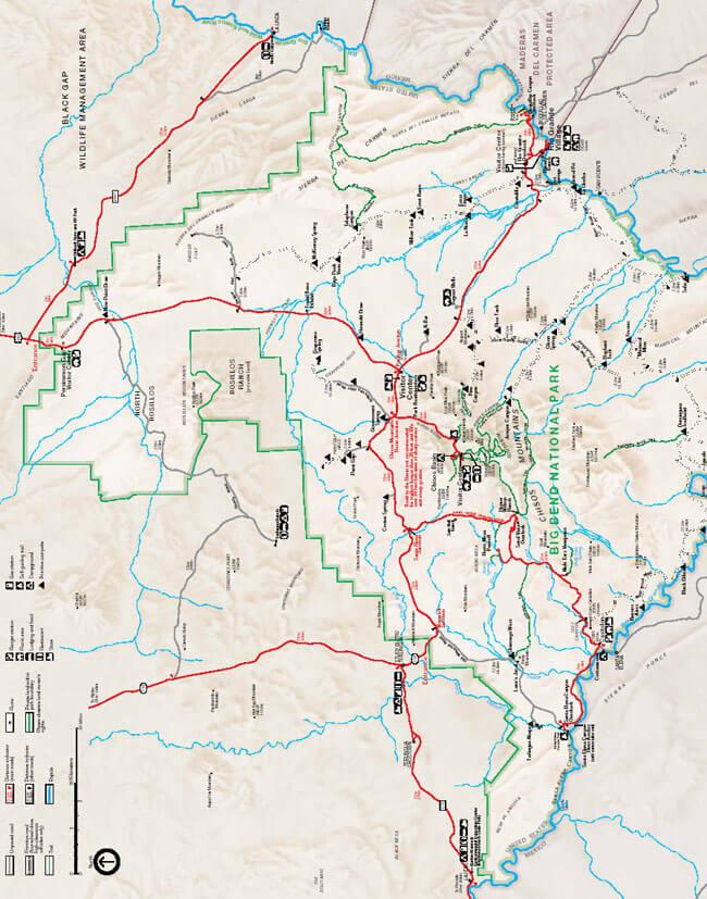 South Rim Hiking Map