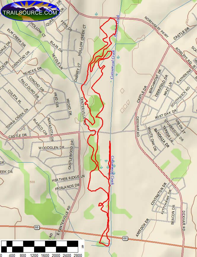 Rowlett Creek Trail Hiking Map