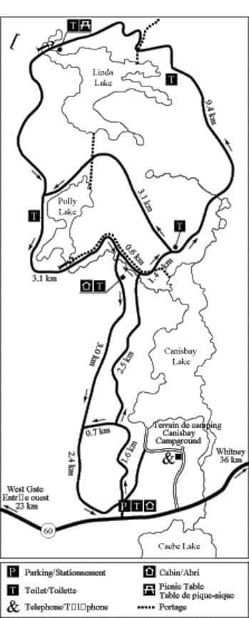 Minnesing Wilderness Ski Trail Cross Country Skiing Map