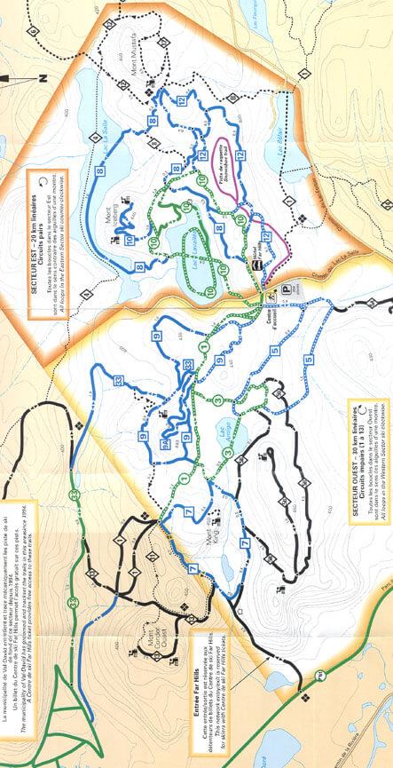 Far Hills Inn Ski Center Cross Country Skiing Map