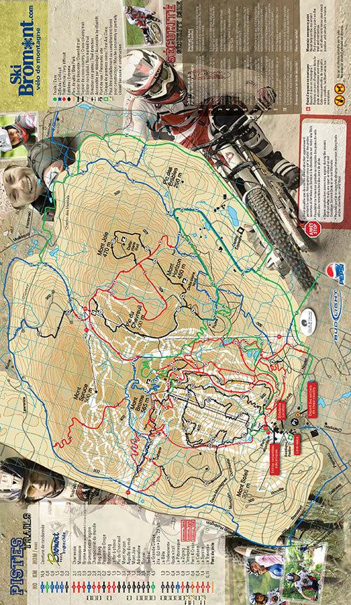 Ski Bromont Mountain Biking Map
