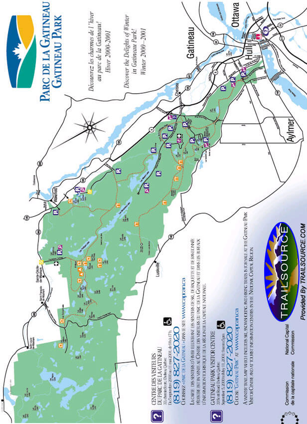 Gatineau Provincial Park Cross Country Skiing Map