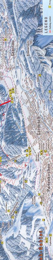Garmisch - Partenkirchen Cross Country Skiing Map