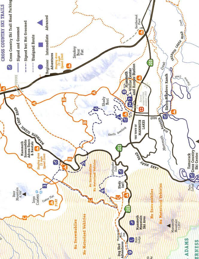 Sierra Meadows Cross Country Skiing Map