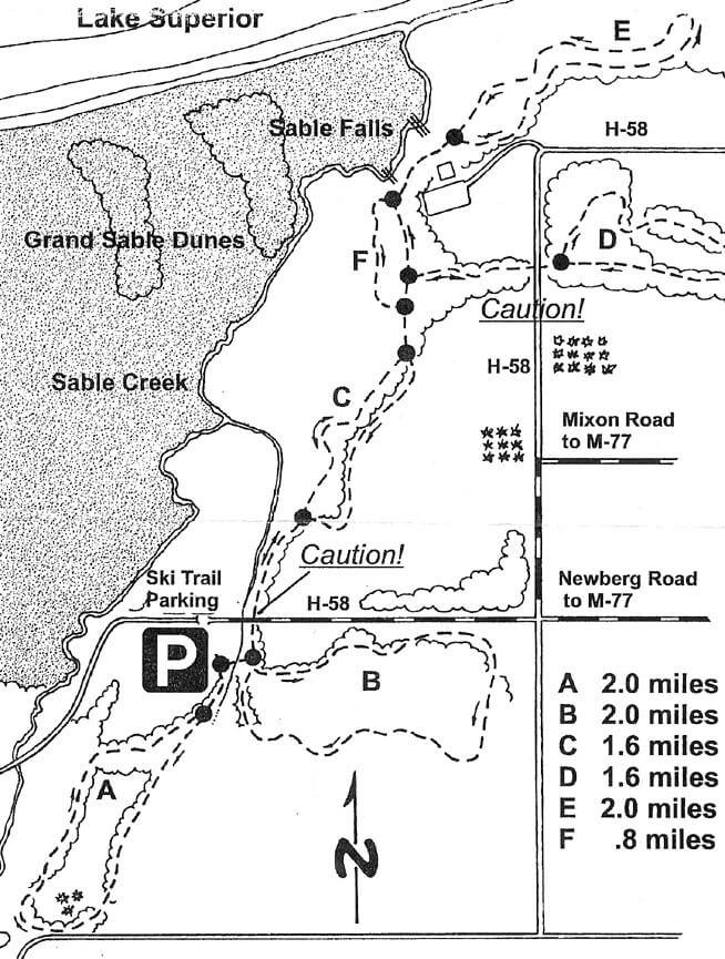 Grand Marais Cross-Country Ski Trail Cross Country Skiing Map