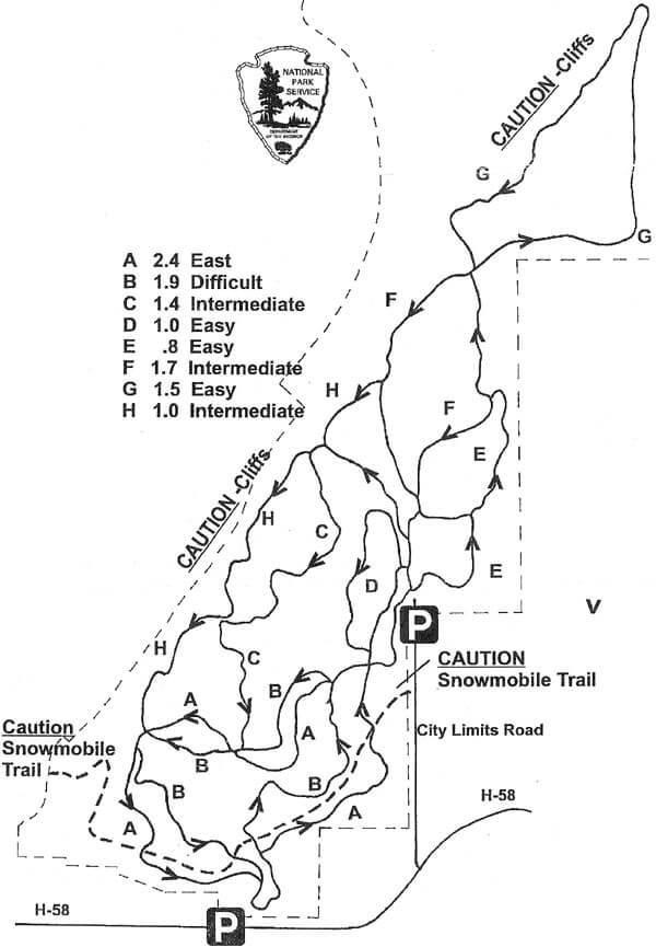 Munising Cross-Country Ski Trail Cross Country Skiing Map