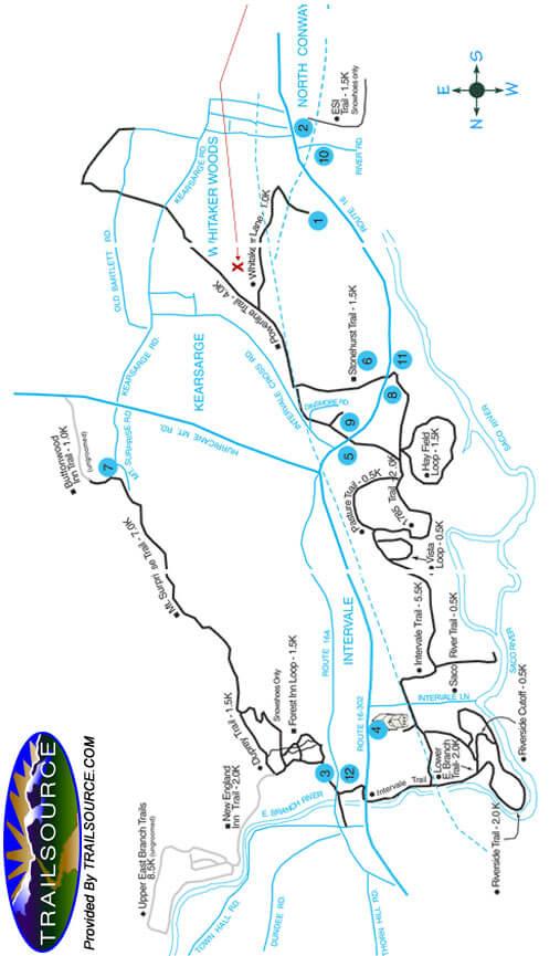 Mt. Washington Valley Cross Country Skiing Map