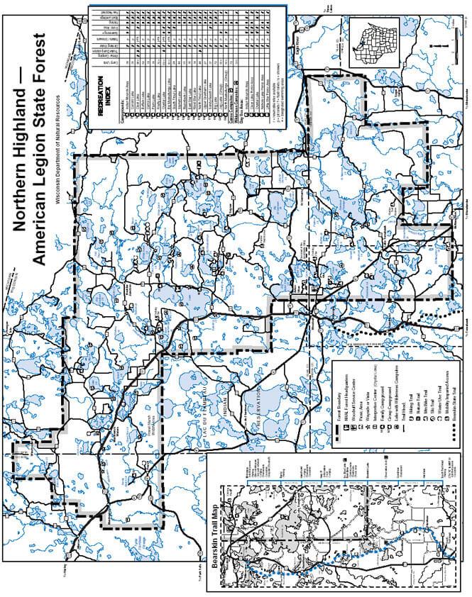American Legion Cross Country Skiing Map