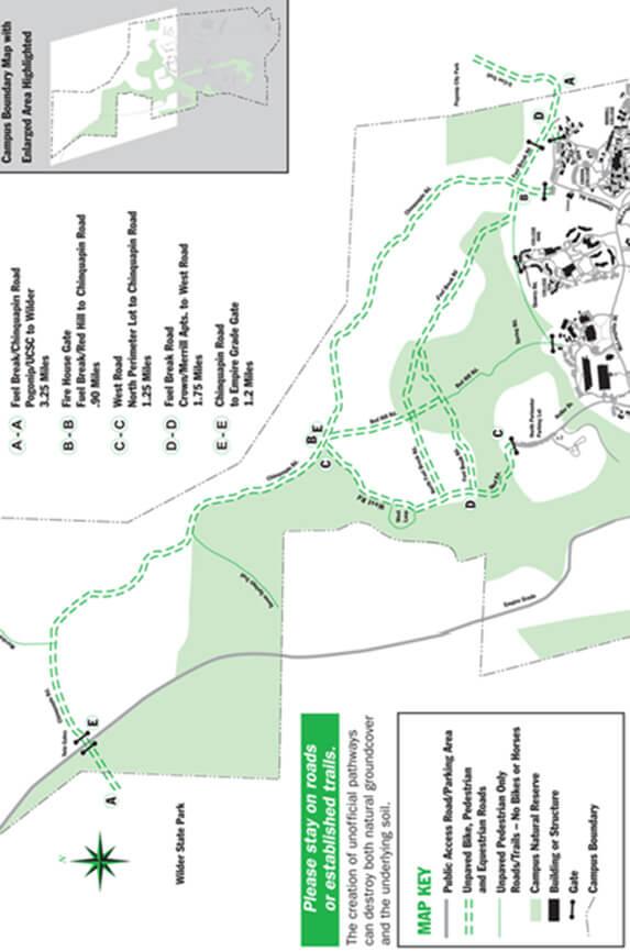 UCSC Mountain Biking Map