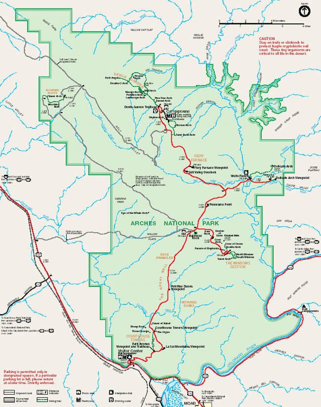 Fierry Furnace Hiking Map