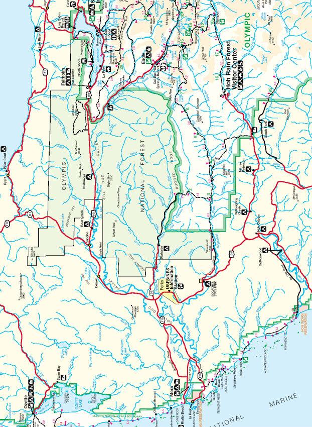 South Coast Trail Hiking Map