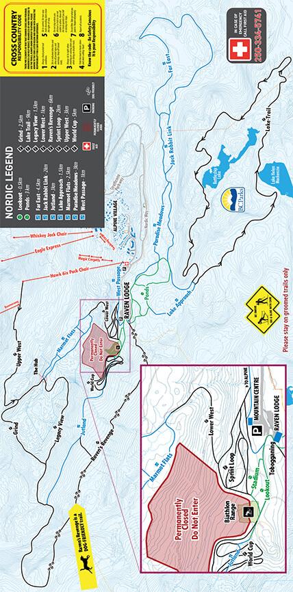 Mount Washington Nordic Centre Cross Country Skiing Map