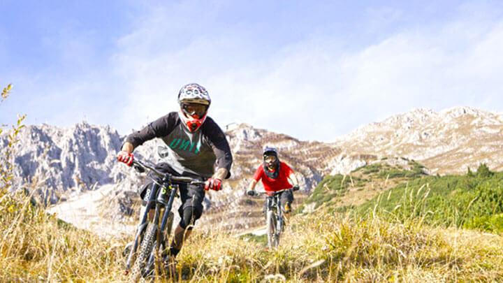 Mountain Biking The Nordkette Singletrail