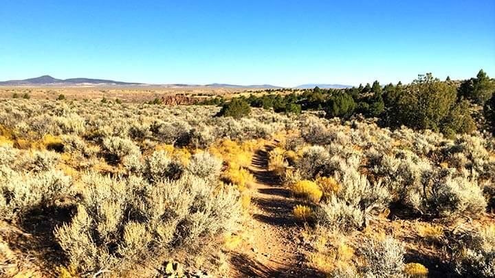 Mountain Biking the Rift Valley Trail in Taos