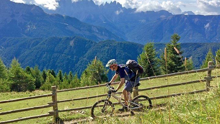 Mountain Biking In Brixen, Sudtirol
