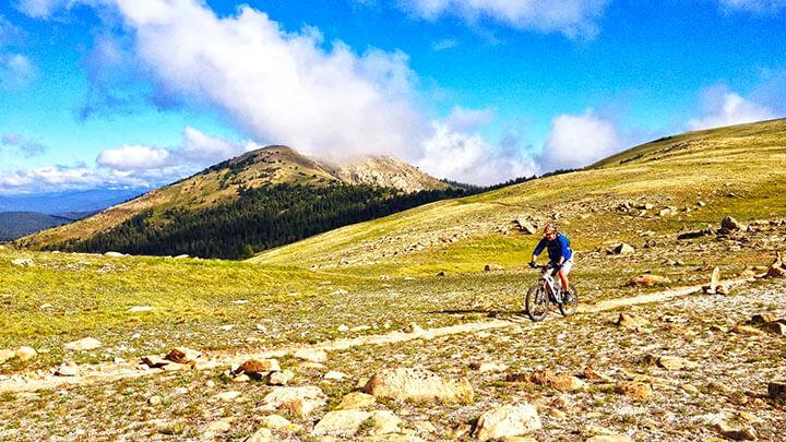 Mountain Biking The Monarch Crest Trail