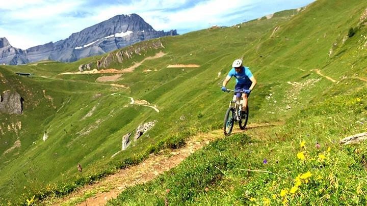 Mountain Biking In Lenzerheide, Switzerland
