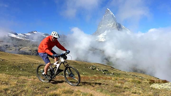 Mountain Biking Zermatt, Switzerland